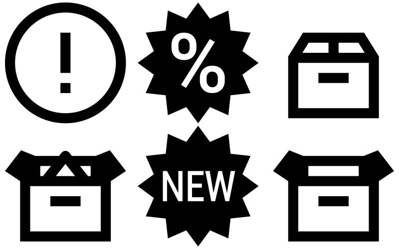 E-Commerce-Symbolpaket im Eiscremestil