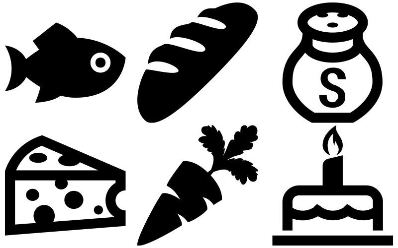 Food Icon Pack im Eisstil