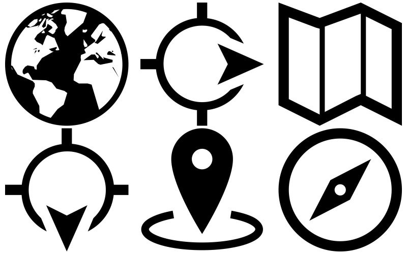 Karten-Icon-Pack im Eiscreme-Stil