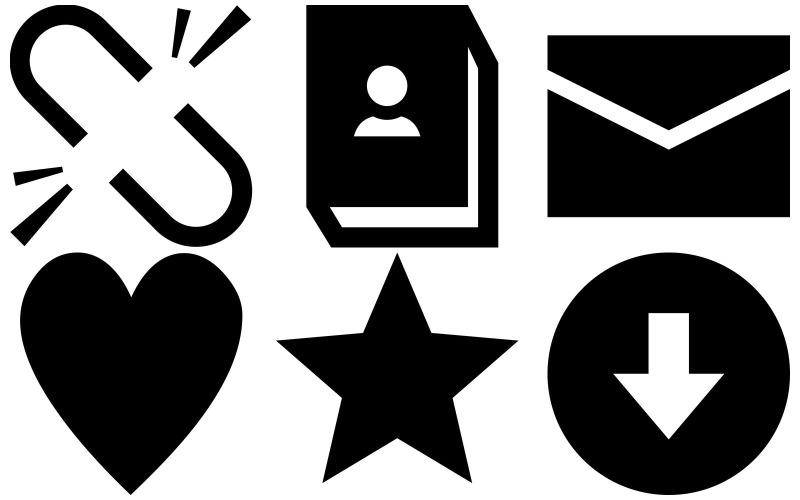 Messaging Icon Pack im Eiscreme-Stil