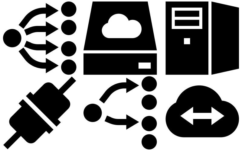 Netzwerk-Icon-Pack im Eiscreme-Stil