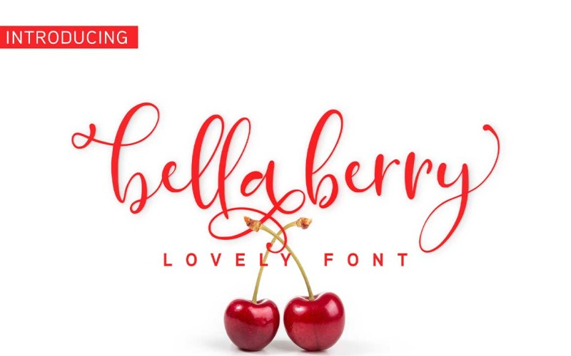 BellaBerry Lovely Script Fonts