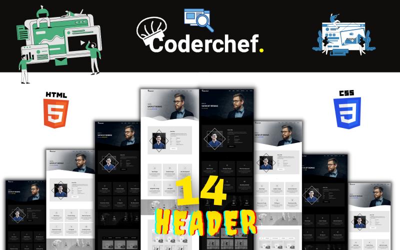 Coderchef - Modello moderno di portfolio HTML