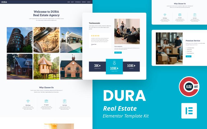 Dura - Kit Elementor Immobilier