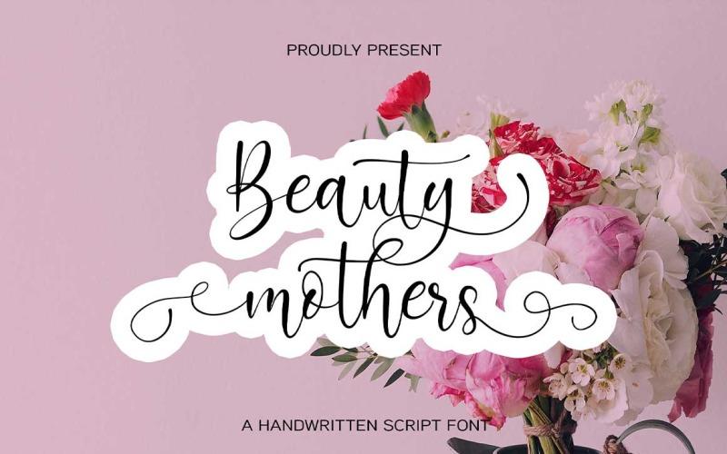 Fontes de caligrafia de mães de beleza