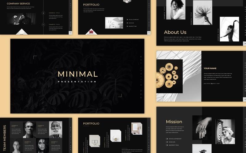 Modèle PowerPoint de présentation minimaliste noire propre