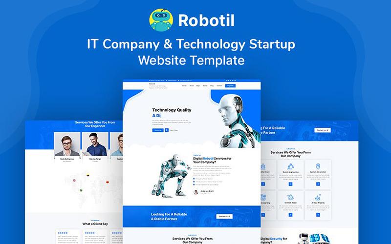 Robotil - Modello di sito web per società IT e startup tecnologiche