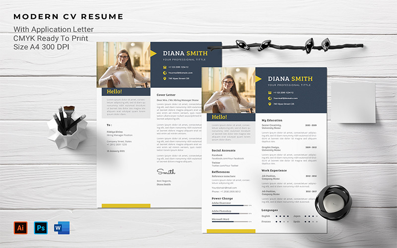 Diana Smith - CV Printable Resume Templates