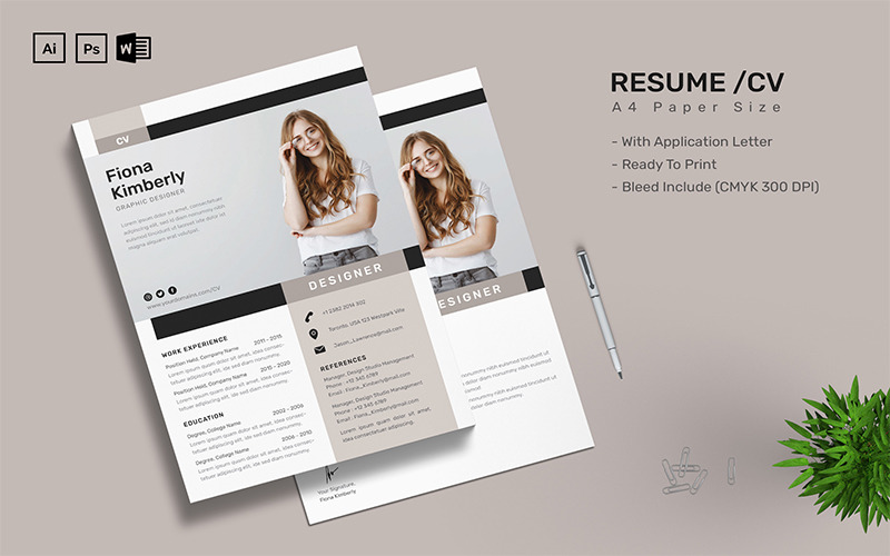 Fiona Kimberly - CV Printable Resume Templates