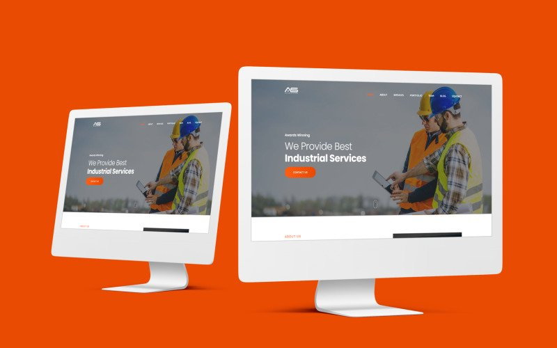 Abu - One Page Industry and Industrial Website Template