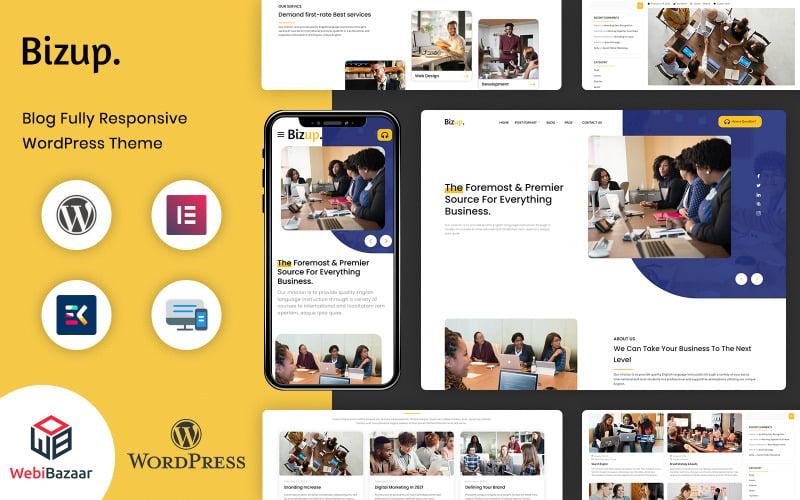 Bizup - Multipurpose Business Consulting Elementor WordPress theme