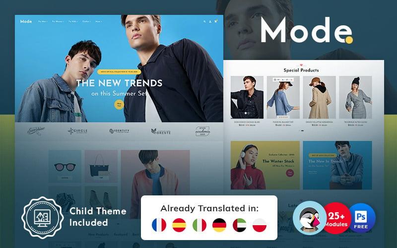 Mode - тема PrestaShop для интернет-магазина модной одежды