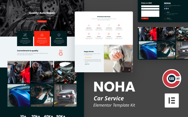 Noha - Car Service Elementor Kit