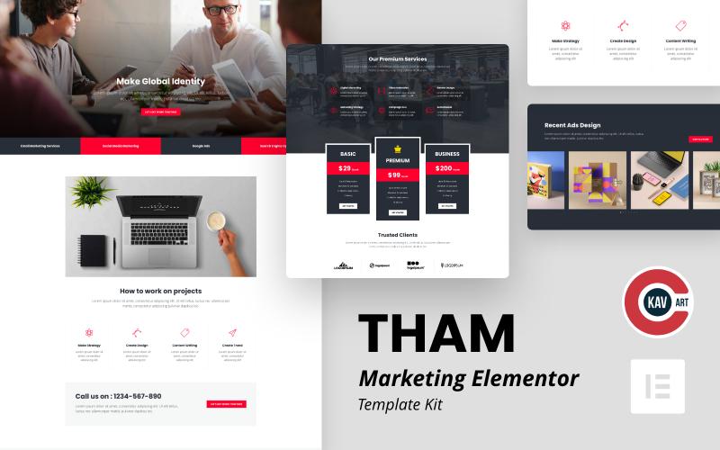 Tham - маркетинговое агентство Elementor Kit