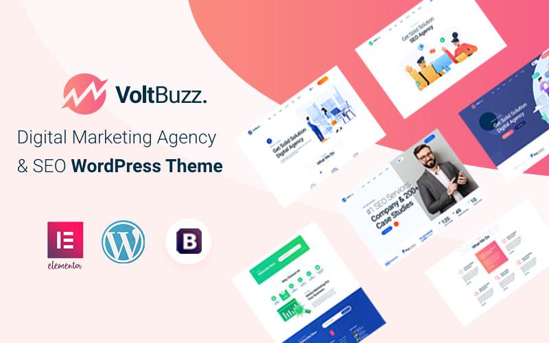 VoltBuzz - тема WordPress для агентства SEO и цифрового маркетинга