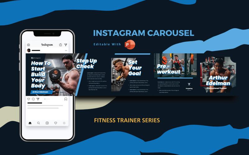 Gym Trainer Instagram Carousel Powerpoint Social Media Template