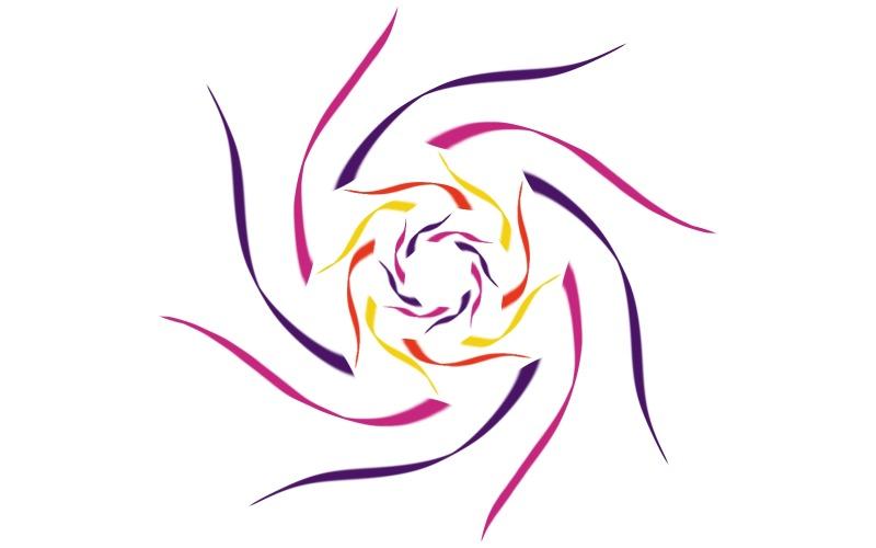 Vortex Spiral Logo Template