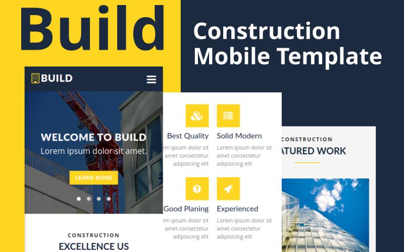 Build - Строительный шаблон мобильного веб-сайта