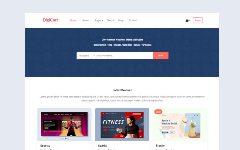 DigiCart - тема WooCommerce для торговой площадки для продажи цифровых продуктов от нескольких поставщиков