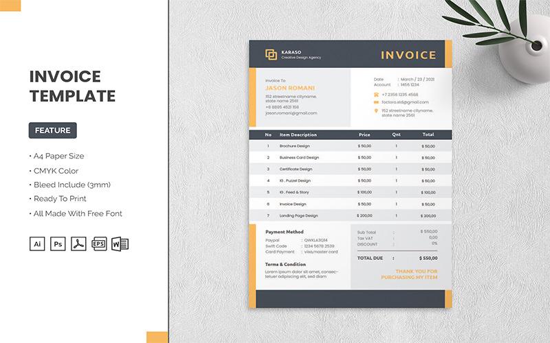 Karaso - Invoice Template