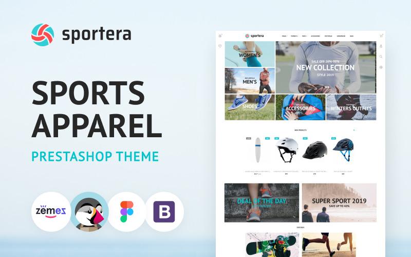 Sportera - PrestaShop-thema voor sportkleding en -uitrusting