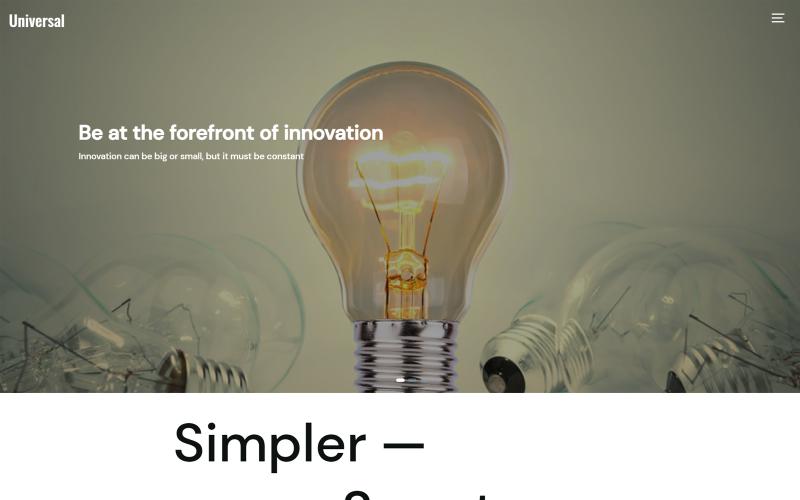 Universal CMS Template - Bootstrap | Laravel Framework Website Template