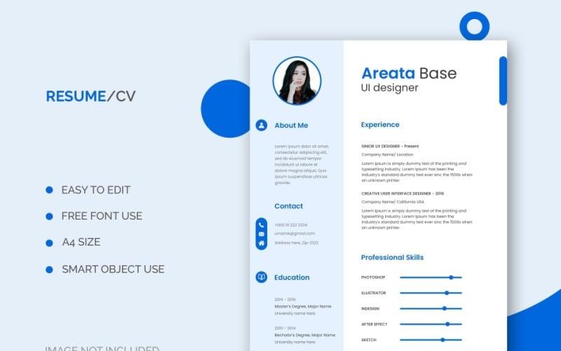 User Interface (UI) Designer Resume Template