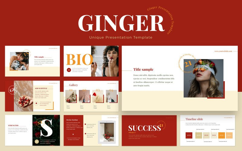 Ginger Powerpoint Presentation Template