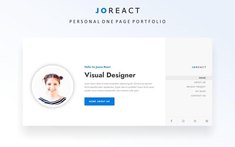 Joreact - Шаблон целевой страницы для личного портфолио