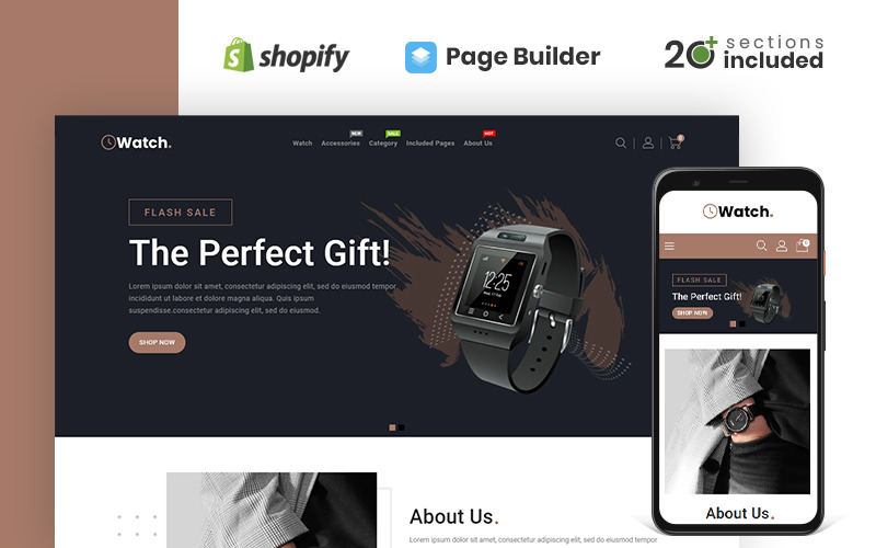 Watch & Accessories Store Shopify Theme