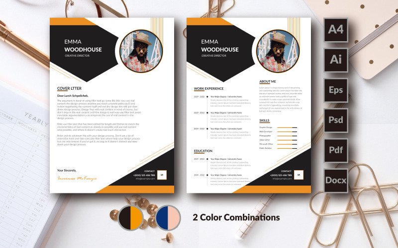 Emma  Woodhouse Clean Resume Template