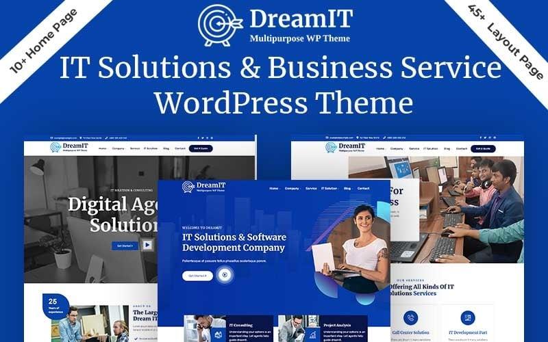DreamIT IT Solutions Company Service WordPress Theme