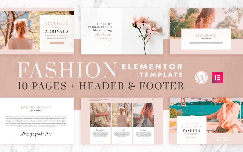 Fashion Instincts - Набор шаблонов Elementor - Совместимость с WooCommerce - 10 страниц + верхний и нижний колонтитулы