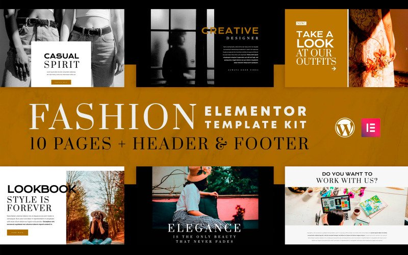 Fashion Spirit - Elementor Template Kit - WooCommerce (Online Shop) Compatible - 10 Pages Included