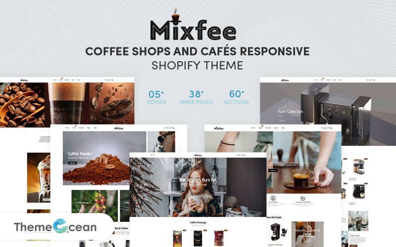 Mixfee - адаптивная тема для кофеен и кафе Shopify
