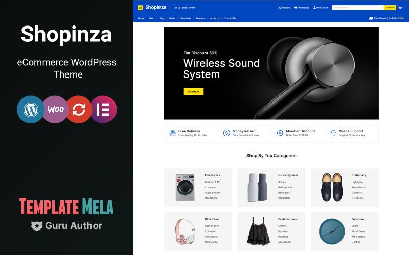 Shopinza - WooCommerce-tema för elektronik och mode