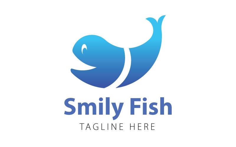 Smiley Fish - Fish Logo template