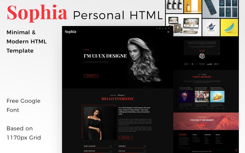 София - HTML-шаблон целевой страницы для творческого личного портфолио