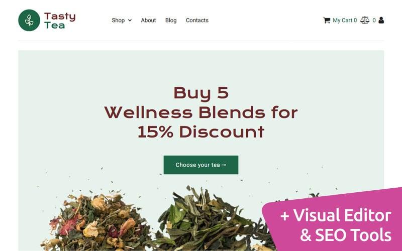 Tea MotoCMS Ecommerce Website Design