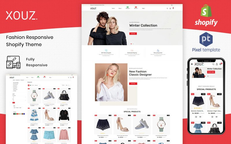 XOUZ - The Clothing Shopify  Themes