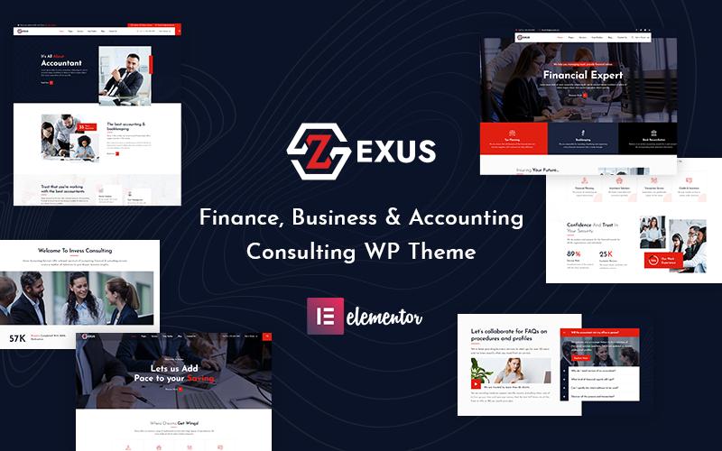 Zexus - WordPress тема для бухгалтерии и консалтинга