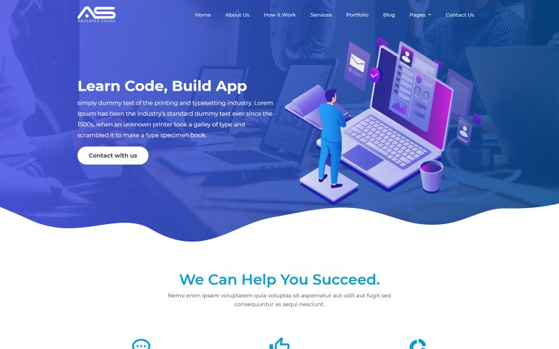 Abusayed | Multi Purpose Html5 Responsive One/Multi Page Business Template