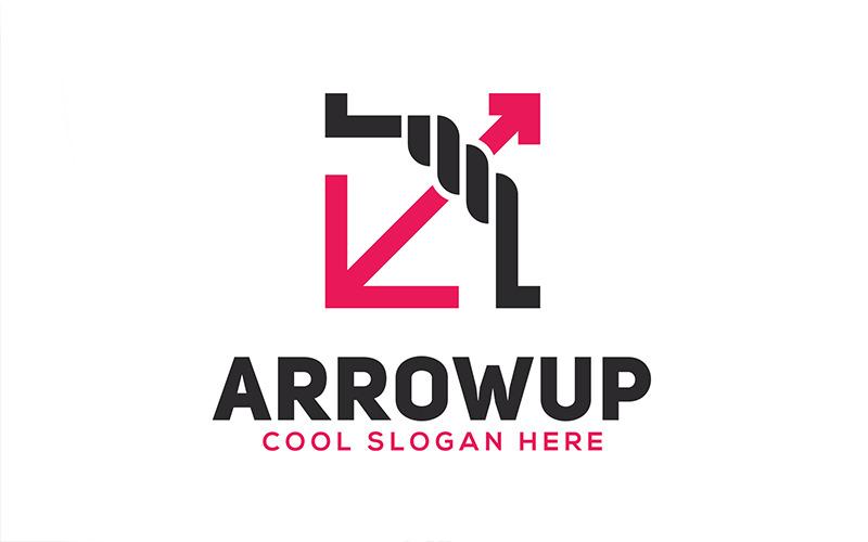 Arrowup Geometric Logo Template