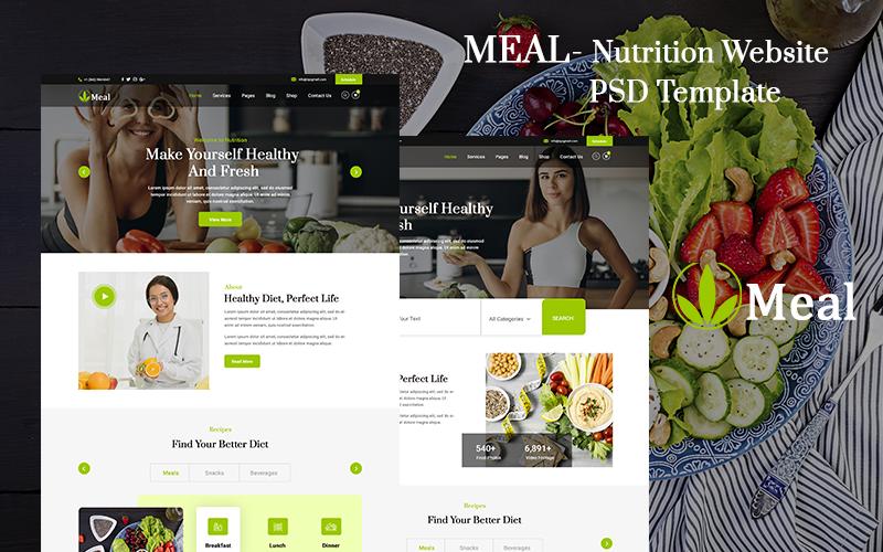 Meal - Nutrition Website PSD Template