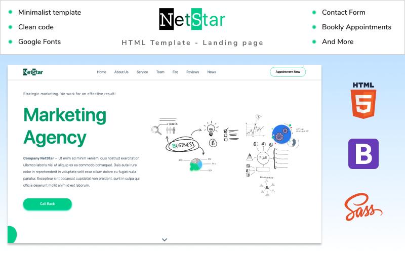 NetStar | Marketing Agency Landing Page HTML Template