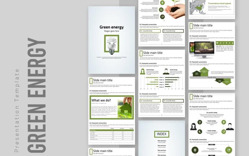Green Energy Presentation Vertical PowerPoint Template