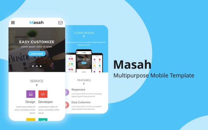 Masah - Multipurpose Mobile Website Template