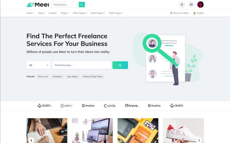 Meer- LMS & Freelance Services Marketplace for Businesses HTML Website Template