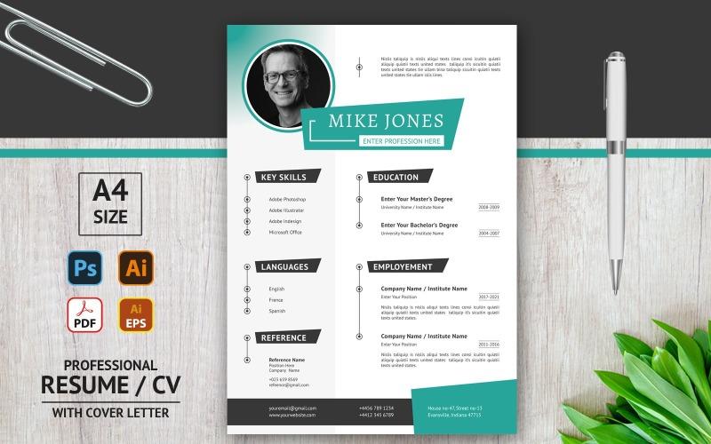 Mike Jones - Unique CV - Printable Resume Template