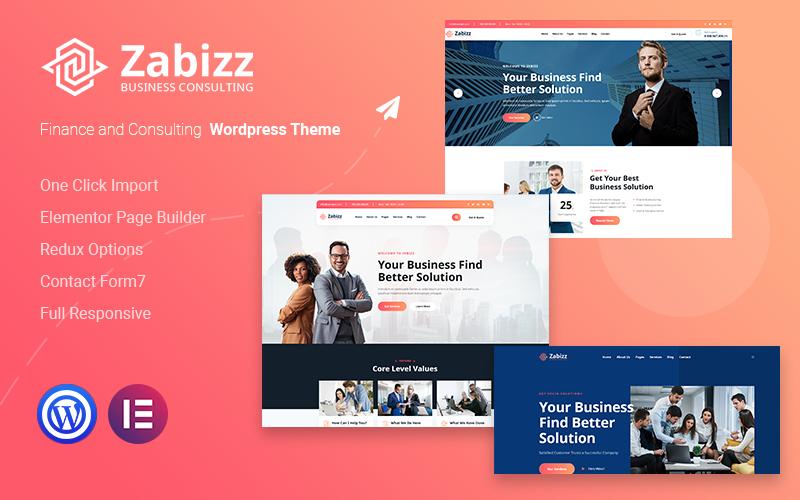 Zabizz - Finance and Consulting WordPress Theme